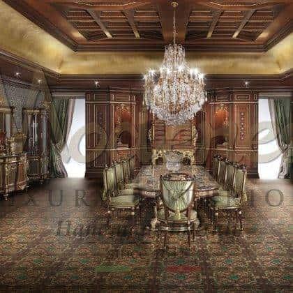 Роскошный итальянский стиль высокое качество итальянская роскошь инкрустированный стол обеденный зал в классическом стиле уникальный дизайн инкрустация по дереву