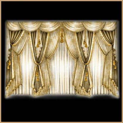 décoration intérieure résidentielle luxe classique rideaux faites sure mesure tissus italiens
