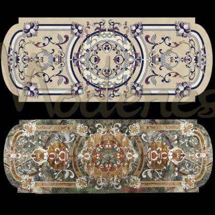 Инкрустированный роскошный обеденный стол итальянские эксклюзивные ткани классический стиль венецианский дворец итальянский стиль барокко