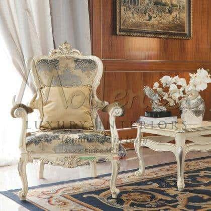 idées de fauteuils de style baroque classique en bois massif de meilleure qualité raffinées fabriquées en Italie tissus précieux sur mesure villa royale bureau salon fauteuils meilleures décorations intemporel décoration sur mesure luxe vie cher exclusif fabriqué en Italie intérieurs artisanaux