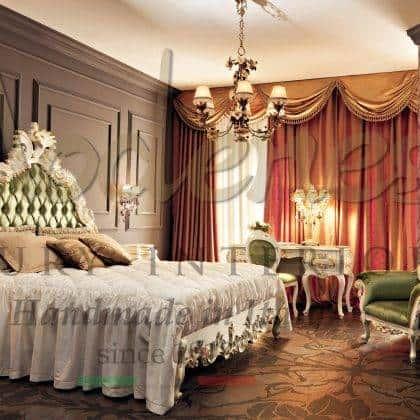 Роскошные спальни из массива дерева на заказ в классическом стиле кровати больших размеров для королевской спальни элитного дома от производителя итальянской мебели высокого качества на заказ