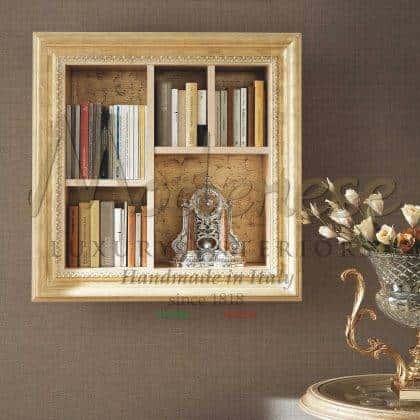 meubles élégants fabriqués à la main baroque à la main traditionnel en bois massif vénitien Armoire à livres en ivoire incrusté de décorations décoratives haut de gamme élégant exclusif fabriqué en Italie design traditionnel éléments décoratifs de style vénitien