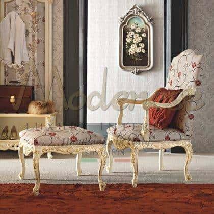 fauteuil de style classique palais royal design intemporel fauteuil et banc traditionnels opulents design classique précieux fabriqué en Italie tissus de style de vie de luxe structure de fauteuil en bois massif artisanat italien de qualité supérieure décorations de meubles sur mesure fabrication de meubles traditionnels faits à la main par des artisans qualifiés italiens