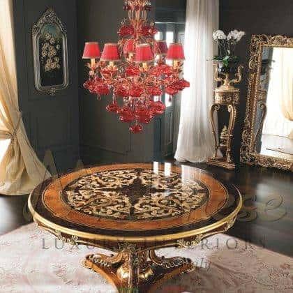 Инкрустированный круглый стол премиального качества ручная работы итальянский классический роскошный стиль барокко резьба по дереву мебель высокого качества эксклюзивный дизайн