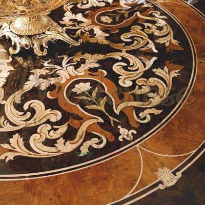 Уникальный инкрустированный круглый стол премиального качества ручная работы итальянский классический роскошный стиль барокко резьба по дереву мебель высокого качества эксклюзивный дизайн мебель из массива дерева на заказ