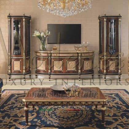 Роскошный итальянский зал резьба по дереву классический дизайн мебель высокого качества ручной работы стиль барокко из массива дерева элитная элегантная итальянская мебель