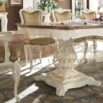 Высокое итальянское качество производства обеденные столы эксклюзивного дизайна из массива дерева сделанные в ручную итальянскими мастерами разработанные лучшими итальянскими дизайнерами полностью на заказ