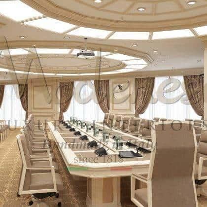غرفة اجتماعات مصنوعة يدويًا بأعلى جودة على الطراز الباروكي من اللؤلؤ ، أفضل حرفية للأثاث ، مشاريع مكتبية مصنوعة يدويًا من الخشب الصلب ، أفكار لطاولة المؤتمرات ، تصميمات داخلية تنفيذية ، مكتب القصر الملكي ، أثاث مكتبي عالي الجودة مصنوع حسب الطلب ، أثاث مكتب رئاسي عام خاص ، فريد من نوعه ، أفكار ديكور مكتب تقليدي فريد من نوعه