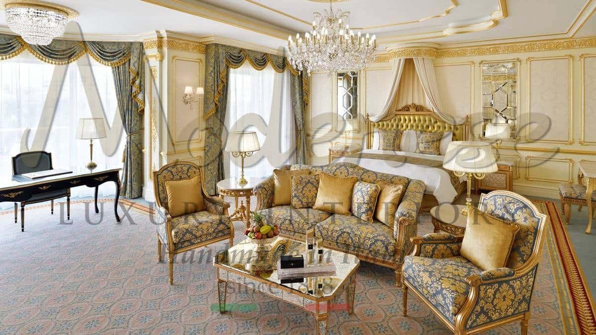 suites de luxe décoration d'hôtel service de décoration intérieure division contrat mobilier de classe aménagement classique or opulent élégant raffiné étonnant unique sur mesure design italien haute qualité style français
