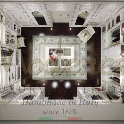 intérieurs exclusifs luxe fabriqué en Italie collection d'armoires classiques design unique majestueux robe traditionnelle de l'île fabriquée à la main haut tissus italiens précieux cravd bois massif détails de la feuille d'argent fabrication à la main design intemporel qualité haut de gamme ameublement du palais royal sur mesure