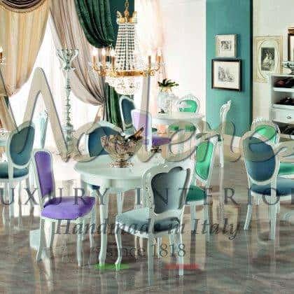 tables à manger de luxe sur mesure finitions de tissus personnalisables fabrication de meubles classiques de qualité supérieure matériaux en bois massif mode de vie de luxe idées d'ameublement élégantes belle salle à manger riche