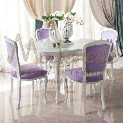 qualité haut de gamme made in Italy table à manger en bois dimensions de finition sur mesure style unique villa exclusive salle à manger collection de meubles haut meilleurs intérieurs baroques ameublement idées de meubles élégants