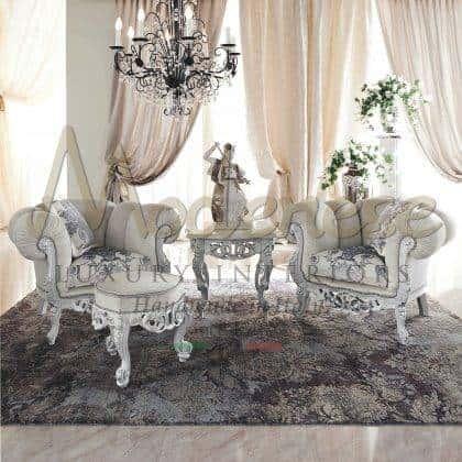 الكراسي بذراعين المصنوعة يدويًا عالية الجودة يدويًا والتي تُصنع بأفضل المواد صناعة في إيطاليا ، والأثاث المصنوع يدويًا ، بلمسات نهائية مطلية باللون الأبيض ، والمقاعد ذات الأذرع إيطالية.