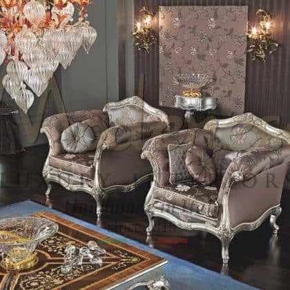 qualité italienne fauteuils artisanaux sculptés à la main meilleure qualité fabriqués en Italie tissus fabriqués à la main meubles classiques de luxe élégants idées de fauteuils de salon élégants fauteuils baroques vénitiens traditionnels raffinés fabriqués en Italie meilleurs intérieurs en bois massif de qualité meubles décoratifs pour les palais royaux élégants et les villas projets d'ameublement exclusifs
