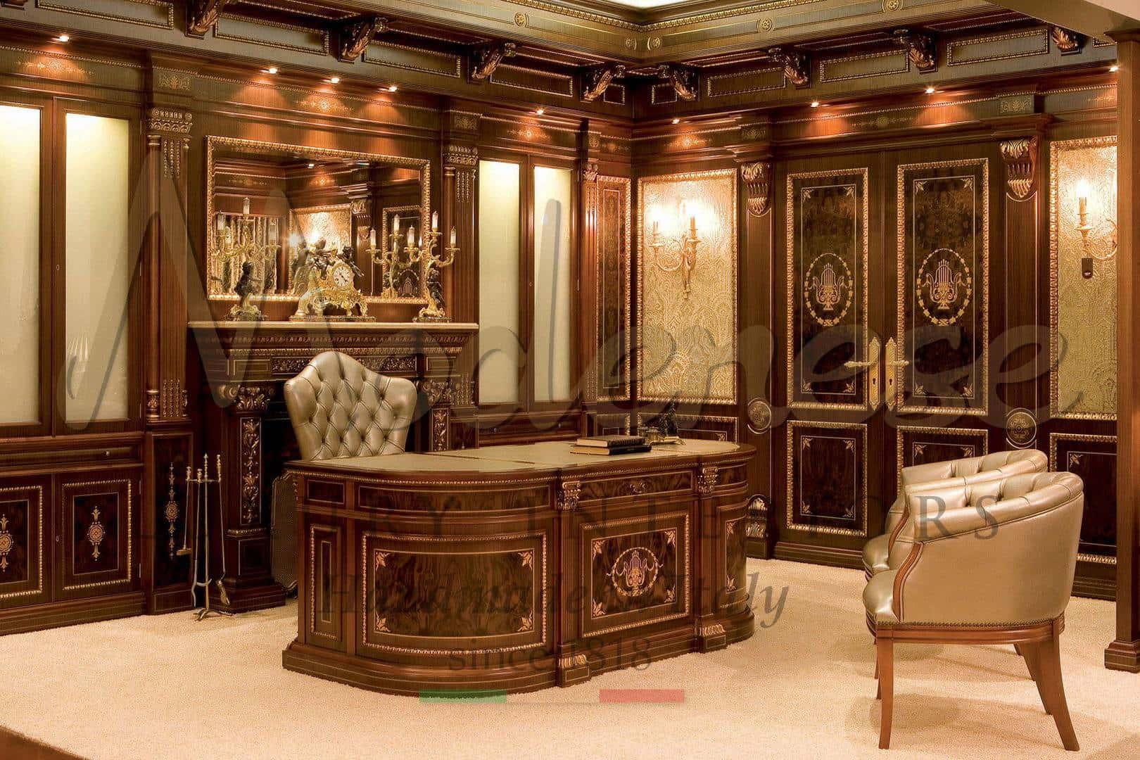 идеи проектировки оформения личного кабинета домашний роскошный офис рабочее место в классическом стиле дизайн проект роскошных люксовых личных кабинетов классический итальянский роскошный офис дизайнерский кабинет на заказ дизайн проект роскошного личного кабинета идеи дизайна офиса