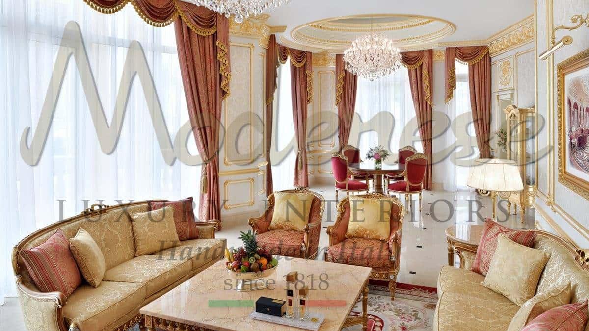 hôtels sélection de meubles service de design d'intérieur consulter luxe classique suites de classe chambres d'hôtel production sur mesure qualité italienne goût français style baroque victorien traditionnel vénitien