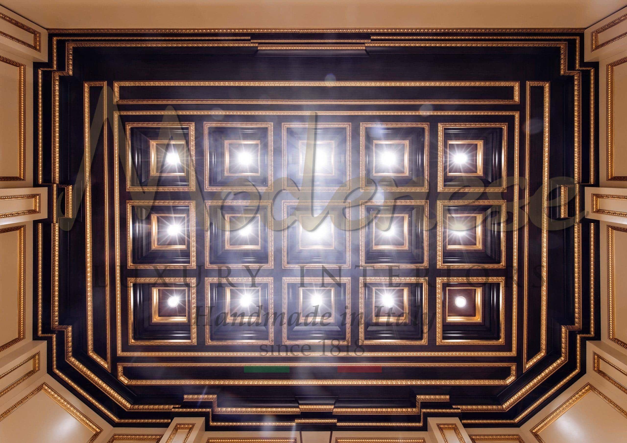 interior design service golden details opulent baroque style italian decoration consultant royal elegant luxury classic wooden ceiling refined home decorations