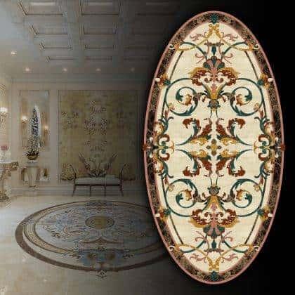 design d'intérieur résidentiel sol classique de luxe