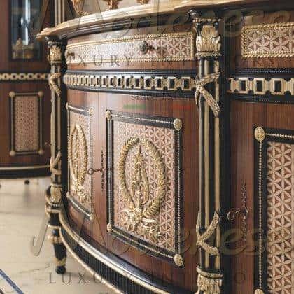 Резьба по дереву производство мебели премиального класса высокое качество роскошный классический дизайн итальянские комоды и буфеты на заказ из массива дерева ручной работы самые роскошные интерьеры
