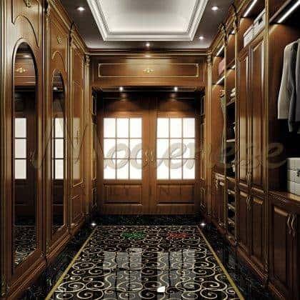 meubles élégants de bon goût garde-robe artisanat beau fabriqué en Italie armoire de luxe élégante style classique traditionnel fait sur mesure bois massif design exclusif opulent décoration chic détails intérieurs fabriqués à la main fabrication artisanale