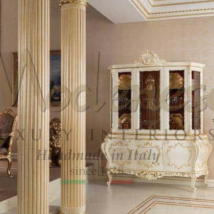 Люксовая итальянская мебель для вилл и дворцов дизайн интерьера в классическом стиле роскошные витрины комоды мебель на заказ инкрустированная итальянская резьба по дереву роскошный стиль классика барокко мебель премиального качества элегантный роскошный дизайн