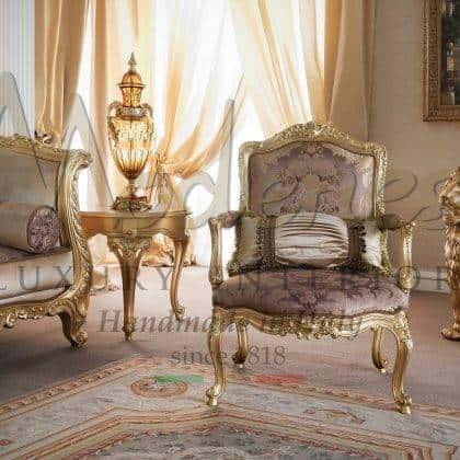 meubles exclusifs vénitiens rococo baroque de style classique français fabrication de fauteuils fauteuil de luxe en bois massif fait à la main dans un élégant rembourrage italien meubles raffinés de la meilleure qualité haut de gamme en finition feuille dorée sur mesure haut de gamme vénitien à la main sculpté meubles exclusifs meilleure qualité production artisanale d'intérieurs haute- intérieurs en bois massif de qualité finale pour des projets de décoration intérieure élégants