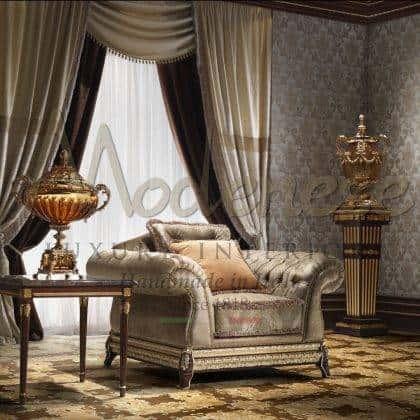idées de fauteuils artisanaux faits à la main de qualité italienne traditionnelle de luxe tissus fabriqués en Italie fabrication de meubles artisanaux meubles fabriqués à la main raffinés idées de fauteuils majestueux de salon en bois massif meilleurs intérieurs intérieurs décoratifs élégants palais royaux et villas traditionnels uniques classiques rembourrés sophistiqués