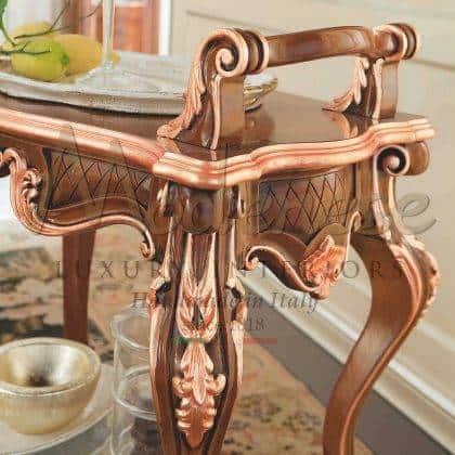 meubles de chariot à thé de conception vénitienne de luxe fabriqués à la main finition exclusive meubles de luxe italiens en bois massif meilleurs matériaux de qualité sur mesure ameublement de décoration de maison élégante salle à manger idées de meubles classiques palais royaux