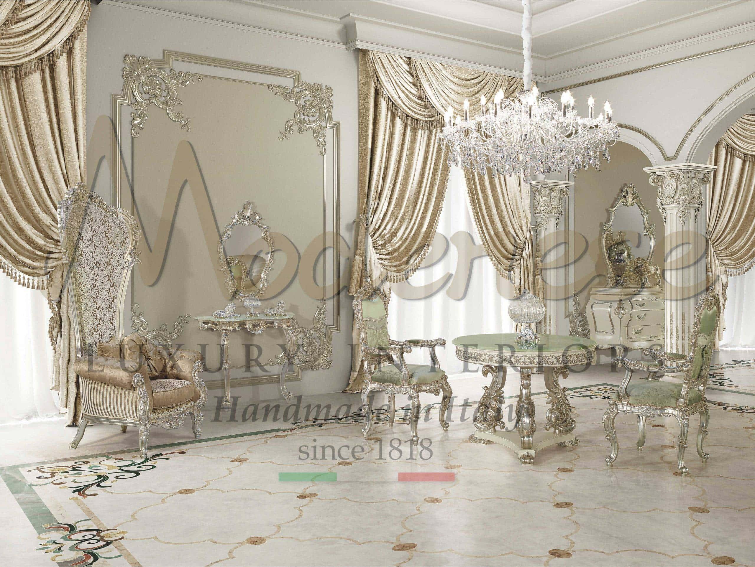 Classic Luxury Living Room Furniture Italian Artisanal Handmade Furniture High End Italian Home Decor Furnishing Modenese