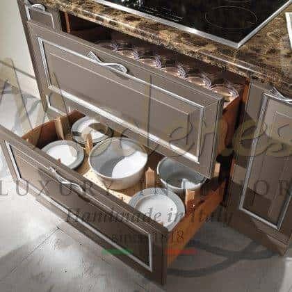 Высокое качество кухни из дерева итальянское производство ручной работы полностью на заказ резьба ручной работы золотые детали кухни роскошные мраморные столешницы элитный дизайн в классическом стиле
