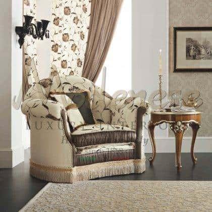 idées uniques de fauteuils rembourrés sophistiqués style classique élégant fabriqué en Italie artisanat de meubles meilleurs fauteuils italiens pour la décoration élégante des projets d'ameublement fauteuils raffinés faits à la main de qualité supérieure avec d'élégants tissus italiens précieux meubles exclusifs de style baroque vénitien meilleure qualité production d'intérieurs artisanaux reproduction de meubles français de qualité supérieure