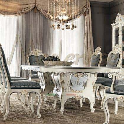 hadcrafted meubles de luxe de style baroque italien de qualité supérieure décoration à la main table à manger jambe élégante détails ornementaux personnalisables bois massif sculpture à la main décor à la maison mobilier exclusif