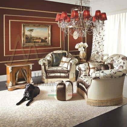 idées exclusives de fauteuils rembourrés sophistiqués style classique élégant fabriqué en Italie artisanat de meubles meilleur salon italien fauteuils de confort pour la décoration élégante projets d'ameublement fauteuils raffinés faits à la main de qualité supérieure avec élégants tissus italiens précieux style vénitien baroque meubles exclusifs meilleure qualité production d'intérieurs artisanaux reproduction de meubles français de qualité supérieure