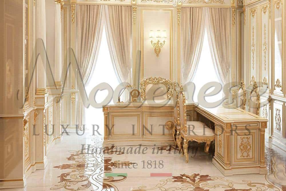 маленький роскошный элегантный дизайн проект кабинета элитный кабинет идеи дизайна мебель на заказ проектировка кабинета оформление офиса