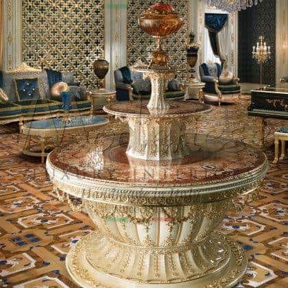 Классический стол для холла раздвижной коктейльный стол итальянская роскошь инкрустация мрамором эксклюзивный уникальные итальянские столы стол фонтаном стол для гостей роскошный стол для мероприятий стол для светских вечеринок