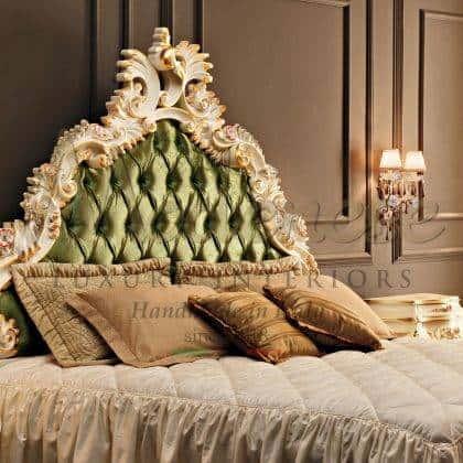 Изголовье для кровати ручной работы из массива дерева итальянские эксклюзивные ткани высокого качества классический стиль роскошные идеи декора королевской спальни самое высокое качество мебели класса премиум