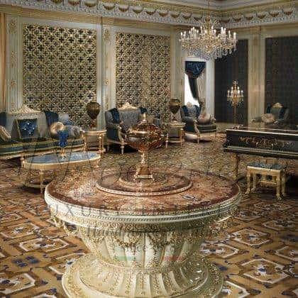 Уникальный стол для холла раздвижной коктейльный стол итальянская роскошь инкрустация мрамором эксклюзивный уникальные итальянские столы стол фонтаном стол для гостей роскошный стол для мероприятий стол для светских вечеринок венецианский стол