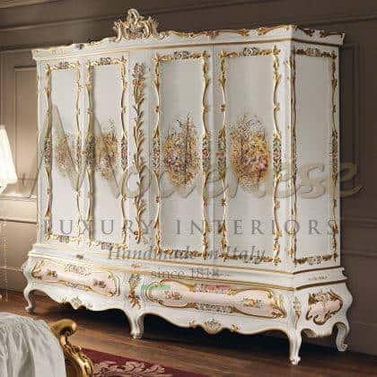 qualité haut de gamme fabriqué en Italie fabrication de meubles peinture artisanale exclusive idées d'armoires de style empire majestueux top design empire style unique décoration de palais victorien intérieurs uniques de maison haut de gamme meubles vénitiens de style classique intérieurs baroques faits à la main précieux tissus fabriqués en Italie