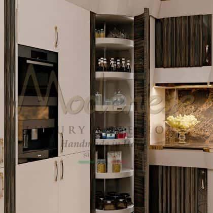 Стильная уникальная кухня Арроганс эксклюзивная коллекция из роскошного дерева палисандр лаковое покрытие стальные детали дизайнерские кухня высокого качества из массива дерева от итальянского производителя мебели премиального качества