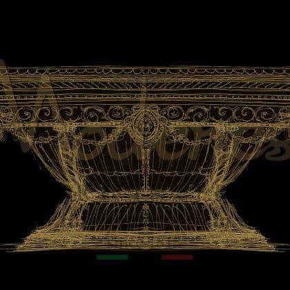 Рисунок проектировкам эксклюзивного стола для гостей коктейльный стол высокое качество мебели итальянская роскошь дизайнерская индивидуальная работа уникальные детали