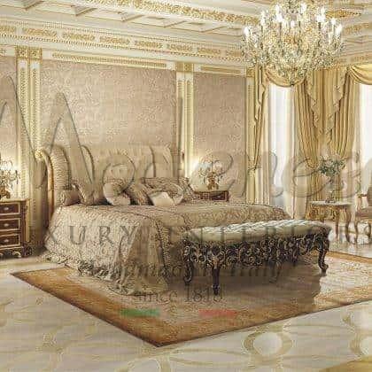 Высококачественные деревянные эксклюзивные изголовья для королевских спален на заказ полностью сделанные в ручную резьба по дереву роскошные эксклюзивные ткани уникальный неповторимый дизайн итальянское качество класса люкс деток интерьера в классическом стиле