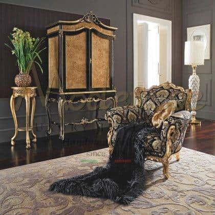 luxe fabriqué en Italie armoire raffinée en bois massif artisanat style empire projet d'ameublement palais royal noir et finitions décoratives fait à la main sophistiqué design classique exclusif armoire bespokea traditionnelle haut de gamme italienne idées artisanales faites à la main luxueux fabriqué en Italie