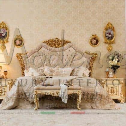 Изголовья из массива дерева ручная работа классический дизайн стиль барокко роскошные итальянские ткани высокого качество производство ручной работы для королевской спальни мебель класса люкс элементы Swarovski дорогие материалы итальянская роскошь