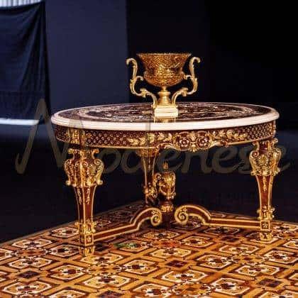 Роскошный венецианский инкрустированный столик индивидуальный уникальный рисунок работы над персональным дизайном на заказ роскошные итальянские деревянные столики на заказ для классической виллы дворцовый стиль мебель во дворец