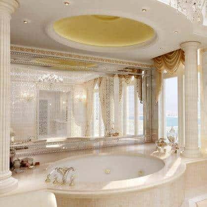aménagement intérieur résidentiel luxueux classique peignoir menuiserie fixe meubles sur mesure