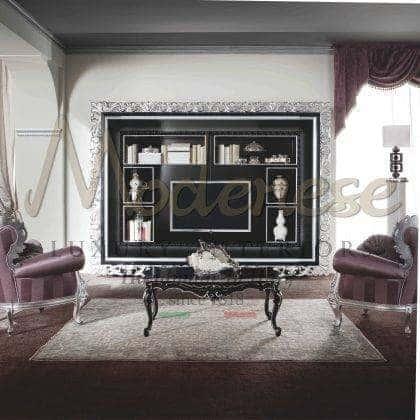 Высококачественные итальянские тумбы для телевизора резьба ручной работы из массива дерева на заказ детали из золота и серебра роскошный стиль барокко классические тумбы для тв эксклюзивного итальянского дизайна высокое качество класса премиум изысканный стиль французских интерьеров