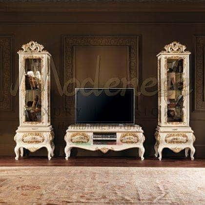 Инкрустация ручной работы изысканная тумба для телевизора в классическом стиле дизайн барокко итальянское высокое качество мебель на заказ из массива дерева изысканный декор классическая роскошная виллы идеи декора итальянская деревянна мебель на заказ