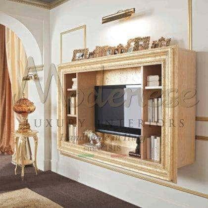 Итальянская мебель ручной работы в классическом стиле декор гостиной комнаты в стиле барокко мебель из массива дерева на заказ премиального качества мебель ручной работы инкрустация по дереву итальянских мастеров тумбы тв в стиле классика золото в интерьерах