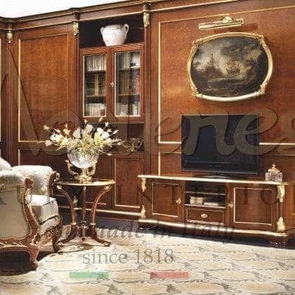 Инкрустация ручной работы изысканная тумба для телевизора в классическом стиле дизайн барокко итальянское высокое качество мебель на заказ из массива дерева изысканный декор классическая роскошная виллы идеи декора итальянская деревянна мебель на заказ премиального качества