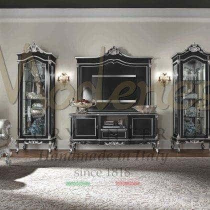 Эксклюзивная итальянская мебель ручной работы деков гостиной комнаты в классическом стиле тумбы для телевизора в классическом стиле комоды из дерева ручной работы мебель на заказ из италии качество премиум класса стиль барокко